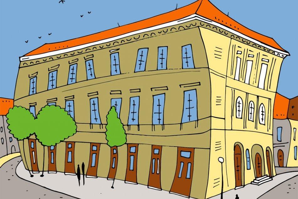 8515ea2c7 Ilustračný obrázok k článku Dominanty Prešova trochu inak: Lucia ich  nakreslila a vytvorila aj omaľovánku